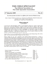 The Chile Specialist N° 61